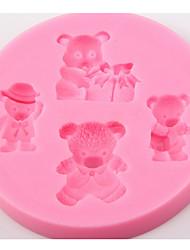 billige -hund bjørn mønster jul diy bære kage skimmel bageware værktøjer