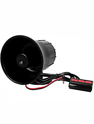 Black Plastic Auto Car Speaker Black Warn Loud Horn Trumpet