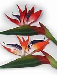 economico -1 ramo europeo uccello del paradiso di plastica piante fiori artificiali