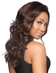 cheap -Dark Brown  Loose Wave Wig Top Quality Europe And America  Syntheic  Wig