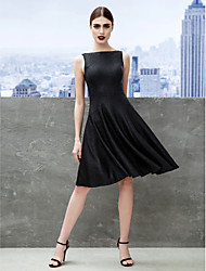 cheap -A-Line Fit & Flare Bateau Neck Knee Length Jersey Cocktail Party / Company Party Dress with Pleats by TS Couture®