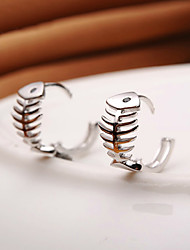 cheap -Earrings 925 Sterling Silver Fish Hoop Earrings Jewelry Wedding Party Daily Casual