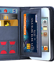 cheap -DE JI Magnetic 2 in 1 Luxury Leather Wallet Case Flip Cover+Cash Slot+Photo Frame Phone Case for iPhone 4/4S