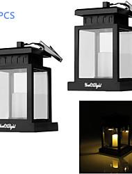 Недорогие -youoklight® 2шт 0.06W солнечной 30lm теплый белый привело открытый кемпинг двор украшение лампы