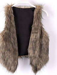 Women's Fashion Faux Fur  Warmth Sleeveless Vest