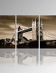 VISUAL STAR®London Bridge Canvas Printing Vintage City Scenery Canvas Wall Art Ready to Hang