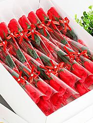 Plastic Roses Artificial Flowers