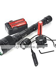 cheap -5 LED Flashlights / Torch LED 3600 lm 5 Mode with Batteries and Charger Waterproof / Impact Resistant / Rechargeable Camping / Hiking / Caving / Everyday Use / Cycling / Bike