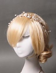 abordables -diadema perlas acrílico imitación casco estilo femenino clásico