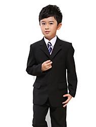 cheap -Polester/Cotton Blend Ring Bearer Suit - 7 Pieces Includes  Jacket / Shirt / Vest / Pants / Waist cummerbund / Bow Tie / Long Tie