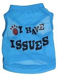 preiswerte -Katze Hund T-shirt Hundekleidung Blumen / Pflanzen Rose Blau Rosa Terylen Kostüm Für Haustiere Herrn Damen Modisch