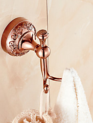 Robe Hook Bathroom Gadget / Gold Brass Zinc Alloy /Neoclassical