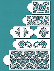 cheap -Damask Cake Stencil Set, Cake Border Stencils Set,Cake Side Design Stencil,ST-198