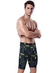 cheap -Men's Stretchy Boxers Underwear Medium, Polyester Spandex 1pc Green