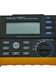 HYELEC MS5203 Digital Insulation Resistance Tester Multimeter Megger 0.01 Mohm to 10.00 Gohm HV meter 50V-1000V output