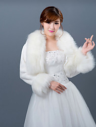 cheap -Long Sleeves Faux Fur Wedding Wedding  Wraps Fur Wraps Coats / Jackets