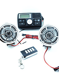 Motorcycle Theft MP3 Audio / With Remote Control Car Audio / Motorcycle Handlebar Stereo FM Audio 2 Speakers ATV