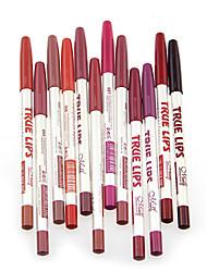 Matite labbra Secco Matita Gloss colorati / Naturale / Traspirante / Schiarimento Multicolore 12