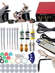 ITATOO® Professional Complete Mini Tattoo Kit 2 Guns Machine Sets Tattoo Ink Power Supply Tattoo Needles