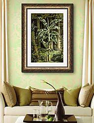 abordables -Toile Encadrée Set de Cadres Paysage A fleurs/Botanique Botanique Art mural, PVC Matériel Avec Cadre Décoration d'intérieur Cadre Art