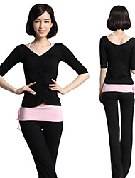 economico -Per donna Tuta da ginnastica Manica lunga Morbido Traspirante Materiali leggeri Set di vestiti per Yoga Pilates Esercizi di fitness