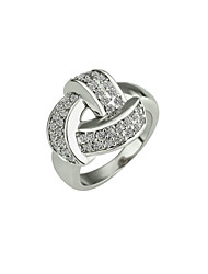 preiswerte -Damen Ring Kubikzirkonia Silber Aleación Stilvoll Hochzeit Party / Abend Modeschmuck