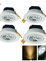 LED Recessed Lights 3 High Power LED 300 lm Warm White Cold White 3000/6000 K Decorative AC 110-130 AC 220-240 V