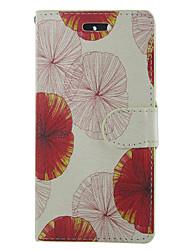Недорогие -Кейс для Назначение SSamsung Galaxy S5 Mini / S5 / S4 Mini Кошелек / Бумажник для карт / со стендом Чехол Цветы Кожа PU