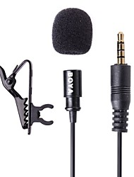 boya lapela by-LM10 Microfone condensador omnidireccional para Apple iPhone, iPad, Android e Windows smartphones
