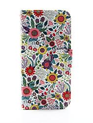 Недорогие -Кейс для Назначение Apple iPhone 8 / iPhone 8 Plus / iPhone 6 Plus Кошелек / Бумажник для карт / со стендом Чехол Цветы Твердый Кожа PU для iPhone 8 Pluss / iPhone 8 / iPhone 6s Plus