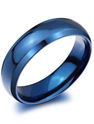 cheap -Men's Band Ring - Titanium Steel Fashion 7 / 8 / 9 Blue For Party / Daily / Casual