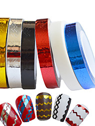 cheap -6pcs Nail Stripping Tape New 2015 Waves Line Strips Decor Adhesive Tips Sticker Decals Wraps Tools Nail Art