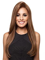billige -Syntetiske parykker Lige Assymetrisk frisure Syntetisk hår Cosplay Brun Paryk Dame Lang Lågløs