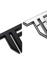 lettere tf trasformatori bar styling auto in lega di zinco refitting emblema distintivo 3d autoadesivo auto marchio fresco per auto