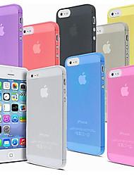 abordables -Funda Para iPhone 5 Apple iPhone X iPhone X iPhone 8 Funda iPhone 5 Transparente Funda Trasera Color sólido Dura ordenador personal para