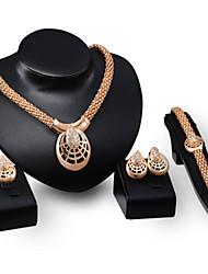 Mulheres Liga Fashion Casamento Festa Aniversário Noivado Presente Diário Casual Anéis Brincos Colares Bracelete Jóias de fantasia