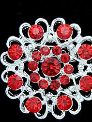baratos -Mulheres - Cristal, Prata Chapeada Fashion Broche Vermelho Para Diário