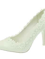 cheap -Women's Wedding Shoes Heels / Pointed Toe Heels Wedding / Party & Evening / Dress White
