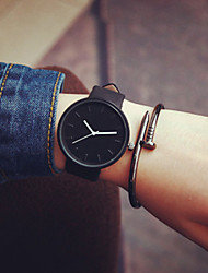 cheap -Men's Women's Couple's Fashion Watch Quartz Casual Watch Leather Band Minimalist Black