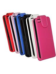 Недорогие -Кейс для Назначение iPhone 7 Plus IPhone 7 iPhone 5 Apple iPhone 8 iPhone 8 Plus Кейс для iPhone 5 Флип Чехол Сплошной цвет Твердый Кожа