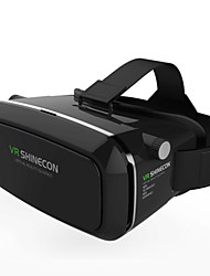 vr box shinecon realidade virtual 3d glasses cardboard 2.0 vr headset (black color)