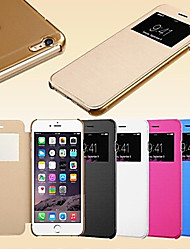 inteligente touch screen vista estojo de couro pu para iPhone5 / 5s (cores sortidas)