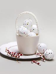 abordables -bola de nieve decoración de Navidad-juego de 6
