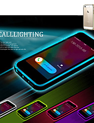 For iPhone 5 Case LED Flash Lighting / Transparent Case Back Cover Case Solid Color Soft TPU iPhone SE/5s/5