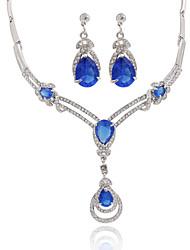 preiswerte -Damen Kristall Luxus Modisch Hochzeit Party Alltag Normal Zirkon Diamantimitate Aleación Ohrringe Halsketten