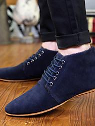 billige -Herre Suede Sko Syntetisk læder Forår / Efterår Komfort Oxfords Skridsikker Sort / Brun / Blå / Bryllup / Fest / aften / Novelty Shoes