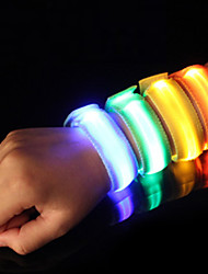 cheap -LED Running Armband Reflective Band Safety High Visibility Nylon for Camping/Hiking/Caving Cycling/Bike Running - Orange Pink Green