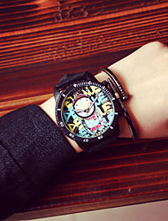 cheap -Korea Vintage Graffiti Women Watch Men Analog Quartz Wrist Dress Watch Student Watch  Lovers Watches Wrist Watch Cool Watch Unique Watch