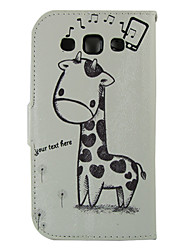 رخيصةأون -غطاء من أجل Samsung Galaxy حالة سامسونج غالاكسي محفظة / حامل البطاقات / مع حامل غطاء كامل للجسم حيوان جلد PU إلى S Advance / Win / Grand Neo
