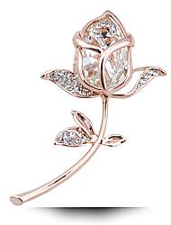 billige -Dame Krystal Krystal Brocher - Guld / Hvid / Guld / Blå / Sølv-Blå Broche Til Bryllup / Fest / Fødselsdag